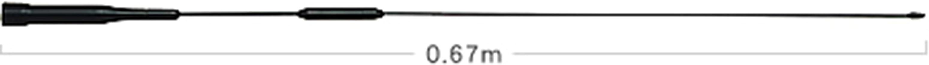 ダイヤモンド AZ506FX 144/430MHz帯RV車&オートバイ用フレキシブルモービルアンテナ AZ-506FX