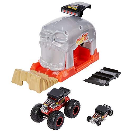 Hot Wheels Monster Trucks Pista de coches Bone Shaker (Mattel GKY02)