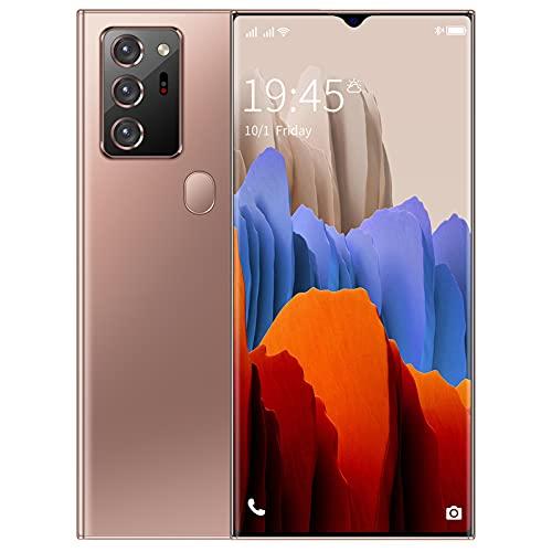 YXKA Smartphone 6,5 Pollici Dewdrop Schermo Intero Smartphone Rugged Smartphone Big Battery Big Battery Carica Veloce WiFi Face ID,d oro