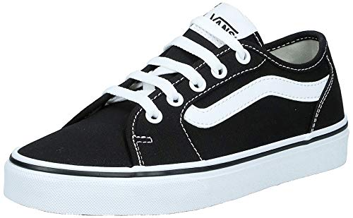 Vans Damen WM Filmore Decon Sneaker, Schwarz ((Canvas) Black/True White 1wx), 42 EU