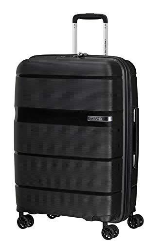 American Tourister Linex Luggage- Suitcase, M (66 cm - 63 L), Black (Vivid Black)