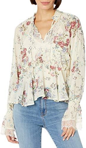 Buffalo David Bitton Women s Floral Print Long Sleeve top Cotton Flowers M product image