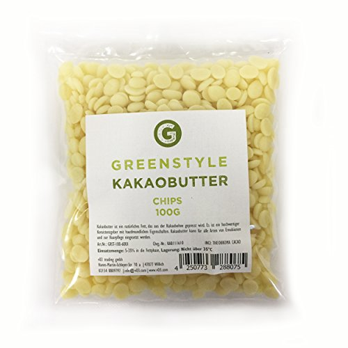 Kakaobutter Chips - 100g - von greenstyle
