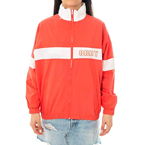 Obey Giubbotto Donna Kennedy Zip UP 221160026 (XS - Coral)
