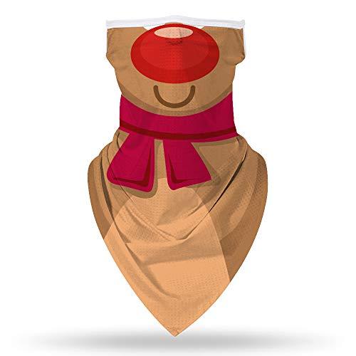 Bnrsyku - Pañuelo para hombre y mujer, diseño de orejas, pasamontañas para máscara de polvo (F1, M)