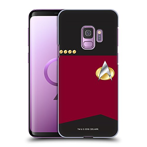 Head Case Designs Officially Licensed Star Trek Captain Uniforms and Badges TNG Hard Back Case Compatible with Samsung Galaxy S9