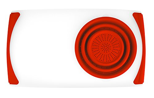 Dexas Over the Sink Strainer Board, 11.5 x 20', Natural/Red