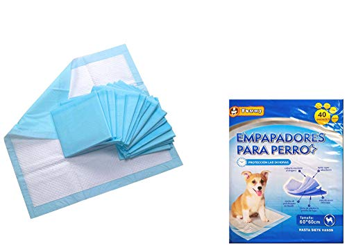 Cisne 2013, S.L. 40 Empapadores Perros Alfombrilla higiénica de Entrenamiento para Perros. Ultraabsorbente (60 x 60 cm)