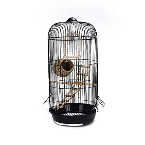 SSG Home La Jaula de pájaro de Interior y Exterior pájaro de Metal Ornamental Nido Ronda Creativa Jaula del pájaro Pequeño Decoración Suministros Cría de Mascotas