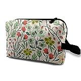 Roadside Rose - Bolsa de cosméticos para mujer, bolsa de maquillaje de viaje, bolsa de aseo espaciosa, organizador de accesorios con cremallera