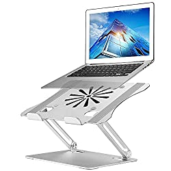 Upgraded Adjustable Laptop Stand with Cooling Fan by Louwan