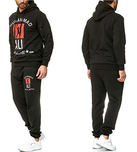 iProfash Herren Jogging Anzug Trainingsanzug Sportanzug Sweatshirt (schwarz, S)