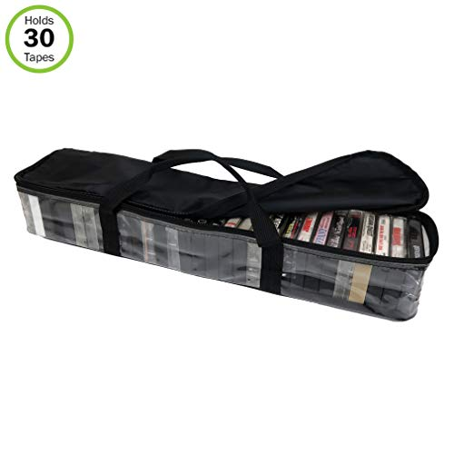 Evelots Carry Cassette Tape Storage Case
