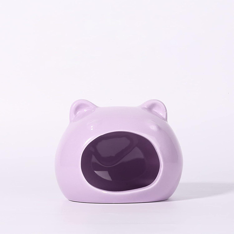BTBT Albuquerque Mall Hamster Ceramic Nest Summer sale Pet for Igloo Guinea P Suitable