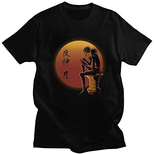 Camiseta negra para hombre, diseño de anime japonés, para cosplay