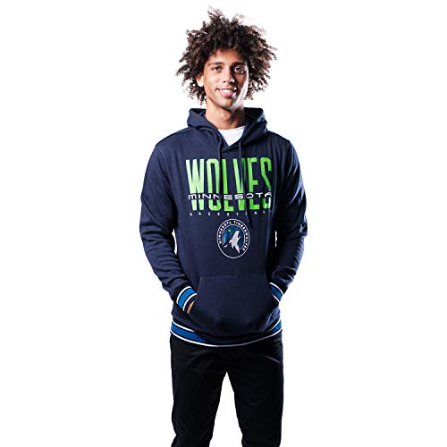 Ultra Game NBA Minnesota Timberwolves Mens Focused Pullover Fleece Hoodie Sweatshirt, Team Color, Large