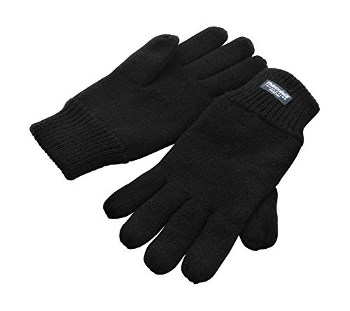 3M Thinsulate - Gant Hiver pour Hommes/Femmes Noir Thermique Doublé - Noir, S/M