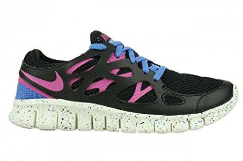 Nike Laufschuhe Free Run 2 EXT black-clear pink-distinct blue-summit white (536746-008) 36,5 schwarz