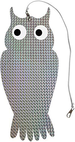 Windhager Vogelabwehr Reflektor Keep Away Eule, natürlicher Vogelschreck, Vogelscheuche, Vögel vertreiben, 2 Stück, 07118, silber
