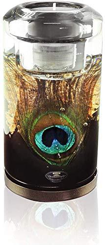 Dreamlight Moderner Teelichthalter Windlichthalter 'Pavos' aus Glas Höhe 14,5 cm inklusive LED Licht *Exklusive Handarbeit aus Deutschland*