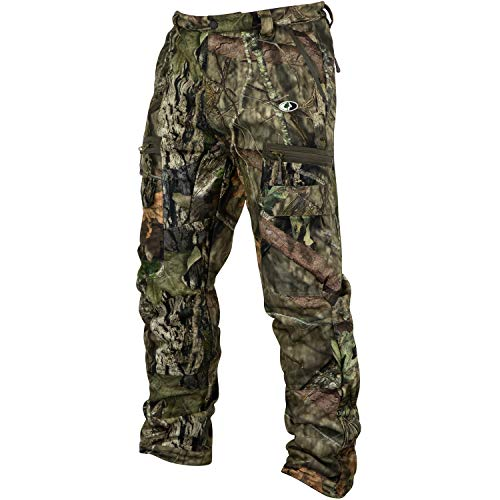Mossy Oak Sherpa 2.0 Fleece Lined Camo Hunting Pants for Men, Hunting Clothes, Medium, Break-Up Country