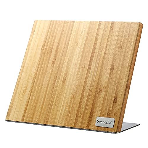 Sunnecko Soporte magnético de bambú para cuchillos