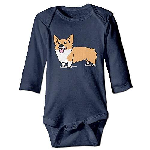 SDGSS Combinaison Bébé Bodysuits Cute Cartoon Corgi Dog Cute Unisex Long Sleeve Baby Clothes