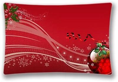 Amazon.com: Funda de almohada de Navidad, diseño de copo de ...