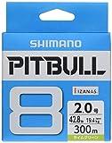 シマノ(SHIMANO) ライン ピットブル8 300m 2.0号 ライムグリーン PL-M78S 釣り糸 ライン 2号
