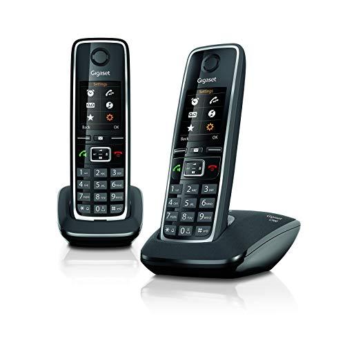 Gigaset C560 Duo - Due Telefoni Cordless per chiamate tra interni, trasferimento di chiamata, suonerie e rubrica personalizzabili, Vivavoce e display a colori [VERSIONE ITALIANA]