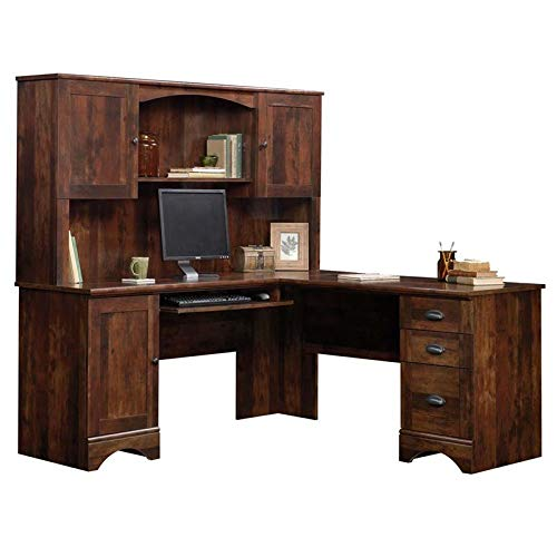 Sauder Harbor View Corner Computer Desk with Hutch...