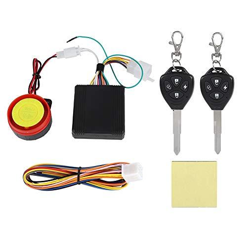 VBESTLIFE Kit de Système d'Alarme de Sécurité de Moto Antivol, Accessoires d'Alarme Étanche Sirène avec Deux Télécommande de 125 DB pour Moto Vélo
