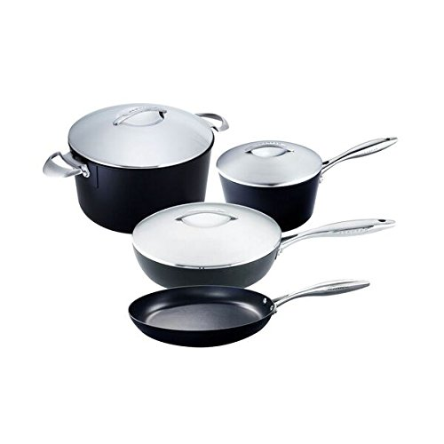 Scanpan Professional 7-Piece Cookware Set, Black