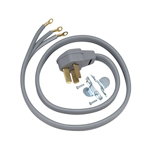 General Electric WX09X10012 3 Wire 50amp Range Cord, 6-Feet