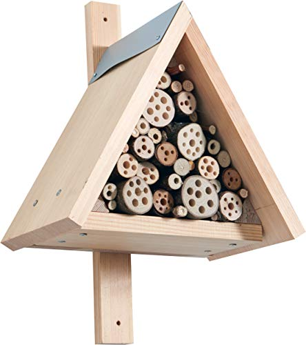 HABA 304543 - Terra Kids Insektenhotel-Bausatz, Bausatz und Anleitung zum Selber bauen von einem Insektenhotel für Kinder (28,5 x 40 x 28,5 cm), zum Beobachten von Insekten