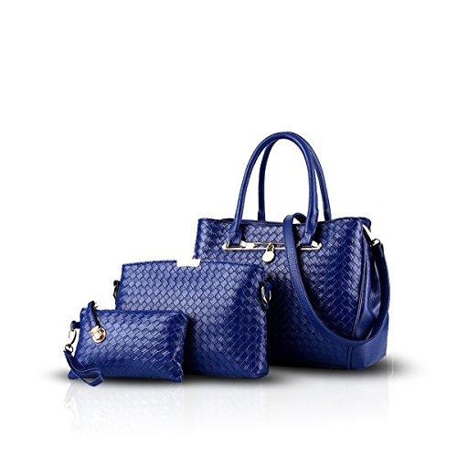 Nicole&Doris 2016 nuovo tre pezzi Messenger Bag spalla delle signore high-end borsa(Blue)
