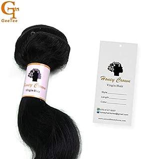 Lysee Custom Virgin Human Hair Bundles wrap self Adhesive Paper Stickers Hang tag,Hair Packaging Wrapping Stickers Swing tag Labels