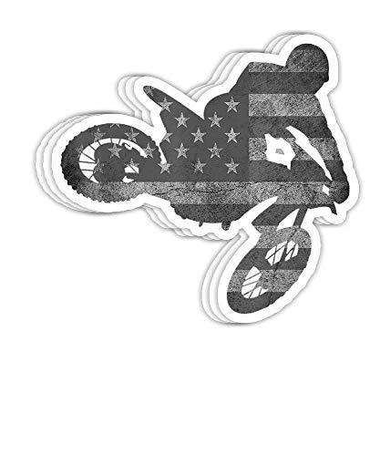 DKISEE Aufkleber für Dirt Bike, amerikanische Flagge, Motocross, Enduro, Geschenk-Dekorationen – 10,2 cm...