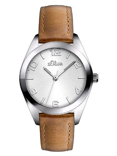 s.Oliver Time Damen-Armbanduhr - SO-2771-LQ, hellbraun