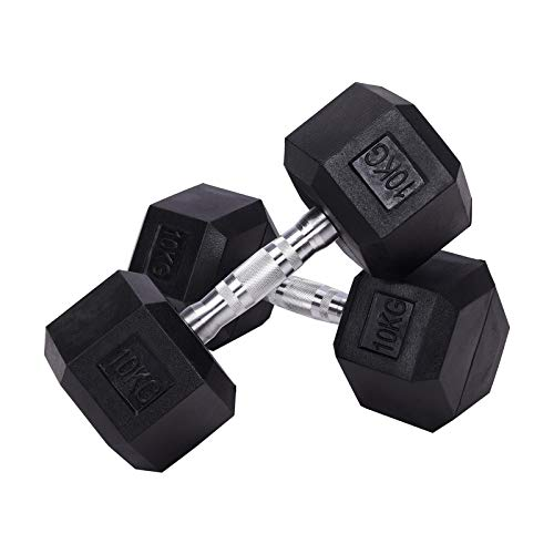 The Fellie Dumbbells Set 5/10/12/15/16/18/20/25/30 KG Hex Dumbbells Weights Set for Men Women Dumbbells Home Gym Muscle Training Equipment