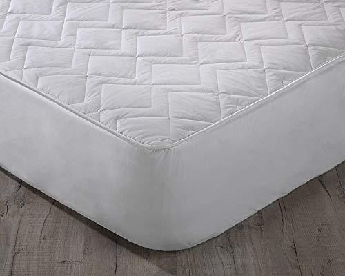 Orginal Sleep Company Australian Wool Filled Quilted Mattress Protector with 38cm Deep Skirt - Emperor