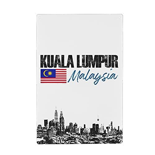 artboxONE Metall-Poster 40x60 cm Städte Kuala Lumpur minimalistisch von Künstler Printed Artings