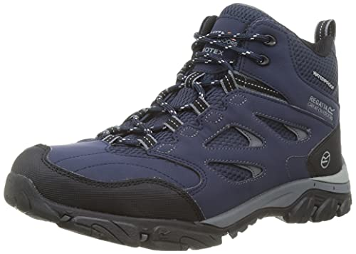 Regatta Chaussures Techniques-Holcombe IEP, Hiking Boot Homme, Ash/Rio Red, 43 EU