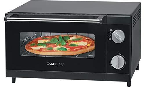 Clatronic MPO 3520 Hersteller Pizza/Pizza, 25 cm, mechanisch, 1 Std., schwarz, 1000 W, Edelstahl