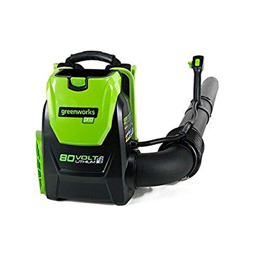 Greenworks 80V 145MPH - 580CFM Cordless Backpack Leaf Blower, Battery and Charger Not...