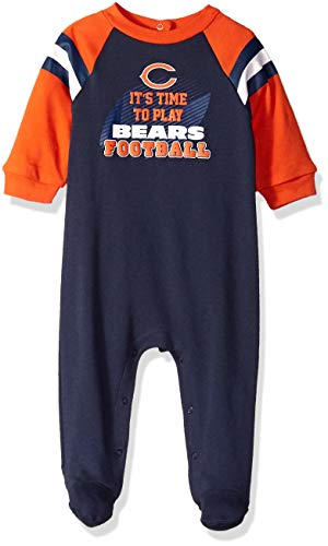 NFL Chicago Bears Unisex-Baby Sleep 'N Play, Blue, 3-6 Months