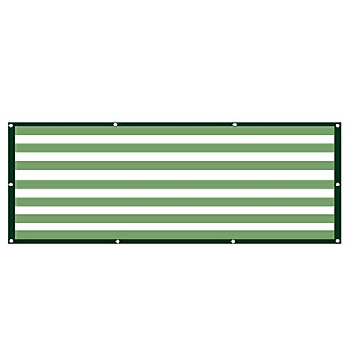 Toldo Vela 90% Protector Solar Verde Claro/Rayas Blancas Tela De La Sombra, Mayo Malla Sombreadora (Color : A, Size : 4x5m)