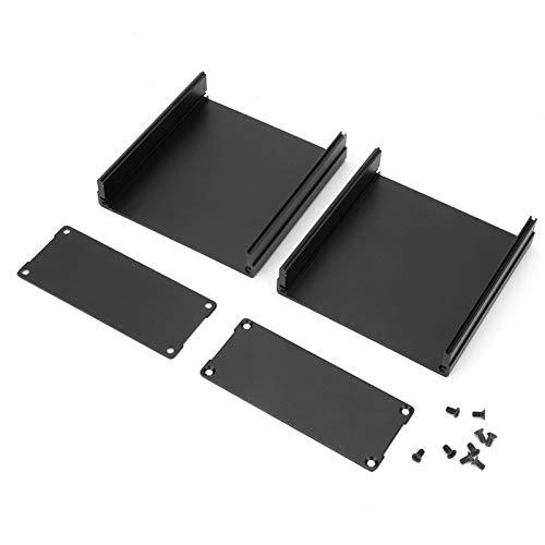 Caja de proyecto electrónico Caja de instrumentos de placa de circuito impreso de aluminio negro mate Caja de proyecto electrónico