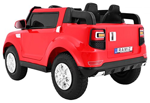 RC Kinderauto kaufen Kinderauto Bild 1: BSD Elektro Kinderauto Elektrisch Ride On Kinderfahrzeug Elektroauto Fernbedienung - S8088 AIR Gepumpte Räder 2-Sitzer - Rot*