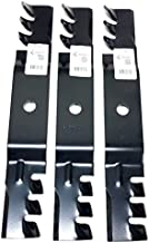 Set of 3, Made In USA Heavy Duty Replacement Mulching Blades For John Deere M127500, M127673, or M145476